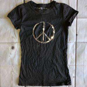 LOL VINTAGE T-shirt Medium Peace Sign ✌️Sequins